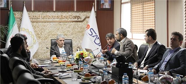 بازدید مدیرعامل و عضو هیئت مدیره بانک ملی از شرکت داده ورزی سداد